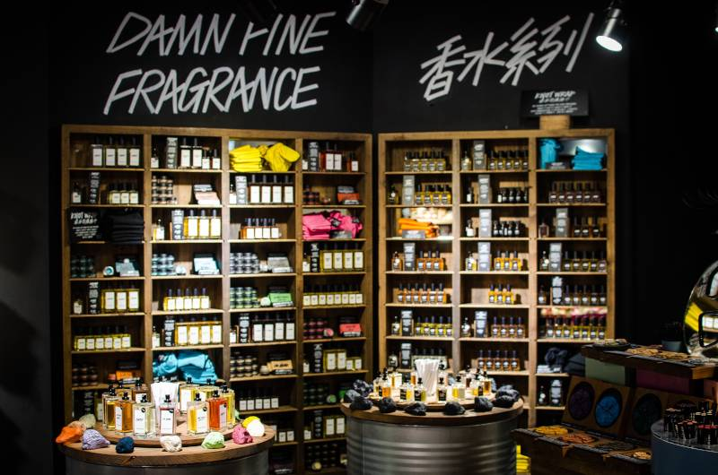 sustainable beauty brand lush