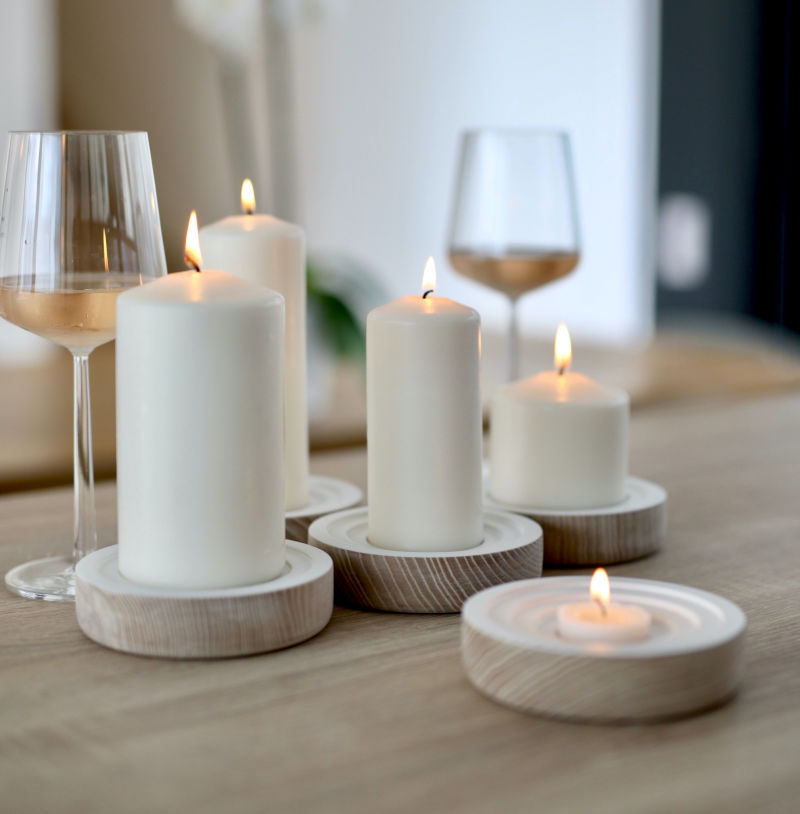 sustainable interior design candles